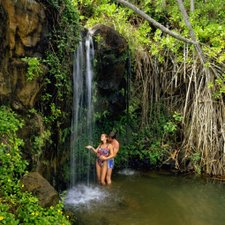This Lovely Couple Did Wedding Pictures At Manoa Falls In Honolulu Hawaii Lots Of Couples Want To Have Waterfall But Then They Remember That